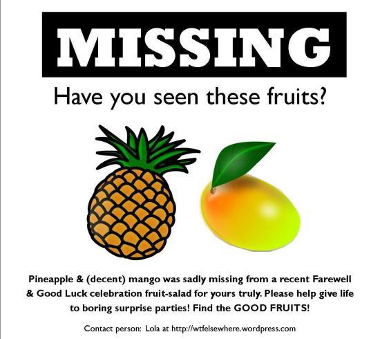 MISSING-Fun good fruit